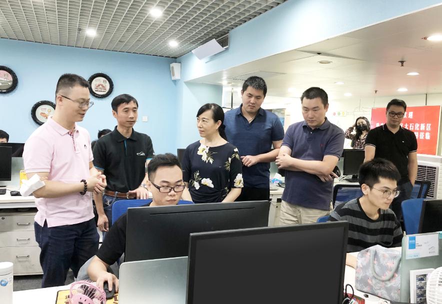 重庆市大石化新区管委会领导考察车e估,共商汽车大数据生态发展